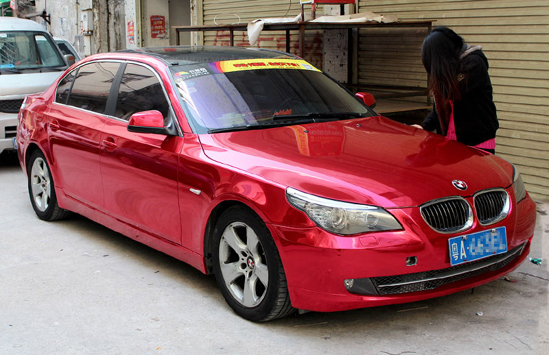 Red 1501 Glossy chrome film BMW i520