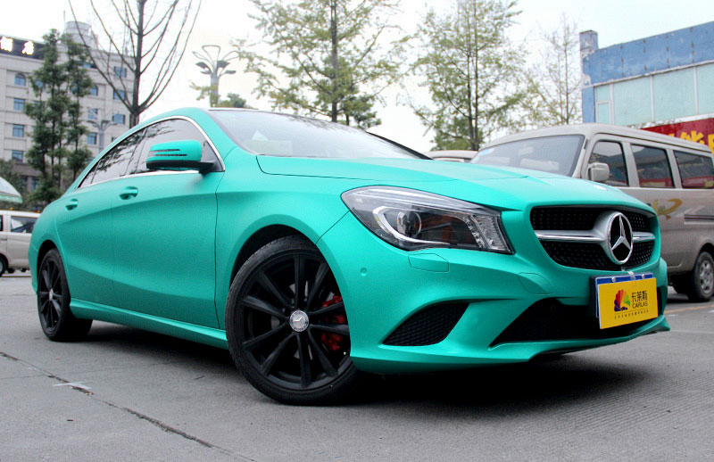 Mercedes benz car wrap Matte chrome dark green 1604D
