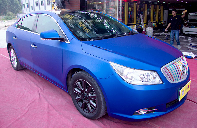 Carlas 1605A buick blue Matte chrome