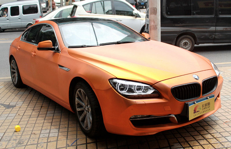 Carlas orange bmw matte chrome 1812s